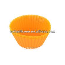 de alta calidad de silicona flan pastel de molde