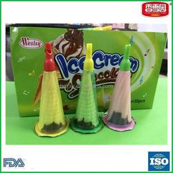Yummy ice cream chocolate biscuit cup crispy ice cram cone chocolate