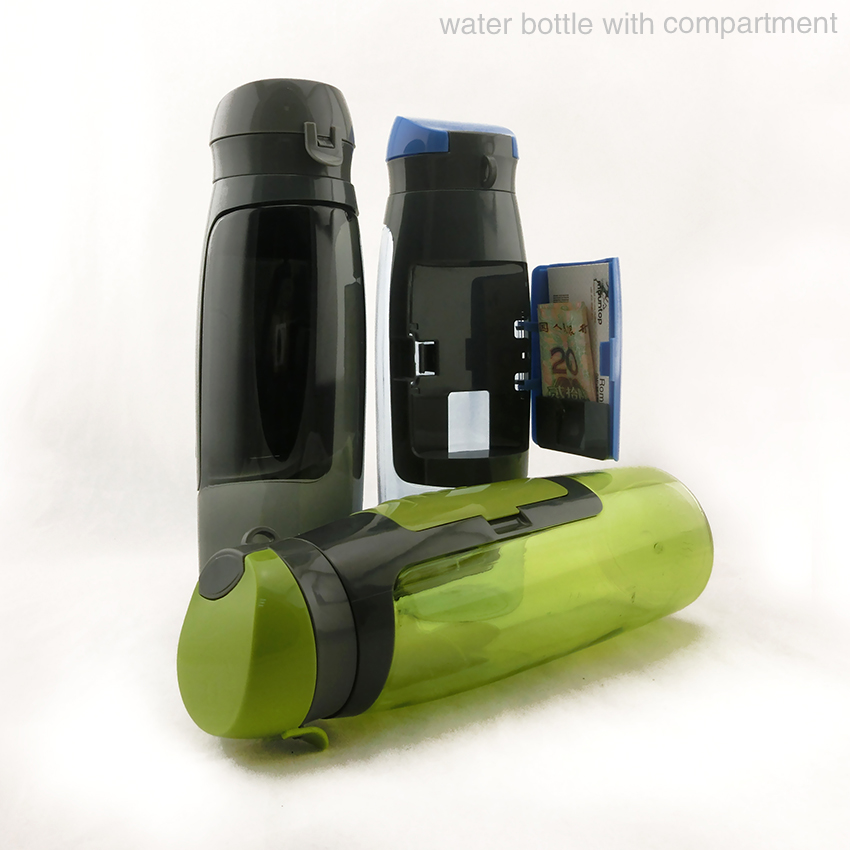 Sports Bottle With Storage Compartment