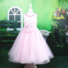 New arrival ! hot sale pink eleent long ball gown evening dress online shopping for kids