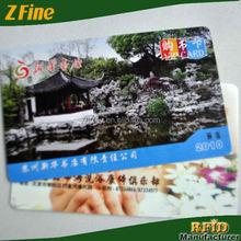 wholesale fashion pvc novelty business card pvc smart card/plastic pvc card