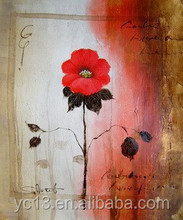 modern decoration oil painting flower picture for home decor