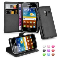 Wallet Flip Leather Moblie Phone Case Cover with Card Slots for Samsung Galaxy ACE Plus S7500