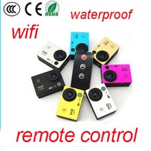 1080p hd h.264waterproof sj4 000 wifi with remote control video camera, wireless video camera, video camera free