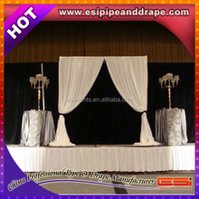 ESI High quality pipe and drape style white led star cloth