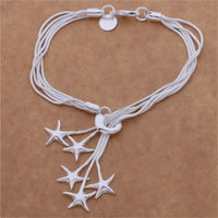 Hot Selling Sea Series Star Shaped Silver Snake Chain Bracelet