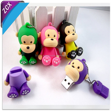 Promotion gift cartoon usb flash drive with 32MB to 64GB
