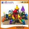 Plastic swimming pool slide for amusement park