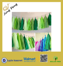 Hot SalesTissue Paper Tassel Garland Banners for Home & Garden Decoration /Tissue Paper Garland Banner For Wedding Party