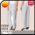 blanco y negro con rayas de última moda nuevo modelo pantalones