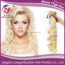 New Arrival Promotion High Quality Unprocessed Virgin Human Hair Cuticle Remy Indian Blonde Remy Wavy Hair