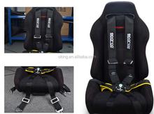 "Racing Street 6Point Bolt-In 3"" Seat Belt Harness (Black)"