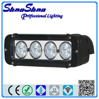 offroad truck led work light bar/cree led light waterproof IP 68 high lumen single row 10w led light bar for 4x4 car