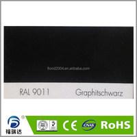 Powder paint interior glossy smooth RAL9011 graphite black