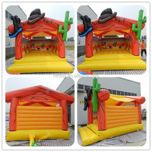 western cowboy restaurant inflatable bounce house for sale