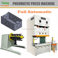 Electrical metal box making machine with NC feeder and mechanical finger