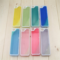 Dynamic Luminous Liquid Sand Quicksand Hard Case Cover For iPhone 6 Case