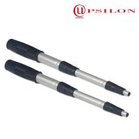Lightweight adjustable telescopic pole for snow shovel
