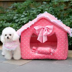 Princess dog kennel cat litter mats pet nest bed house