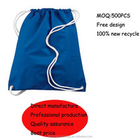 Factory made nylon polyester string bag for promotional