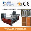 CX-1325 CNC delta herramientas automáticamente para trabajar la madera con cuatro cabezas