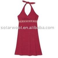 Merino Wool Halter Dress For Women's