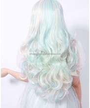 Japanese party wig synthetic wig for cosplay with crazy color the cheapest in China