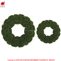 China wholesale artificial moss circle for decoration garden