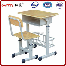 Professional supplier wood school desk and chair