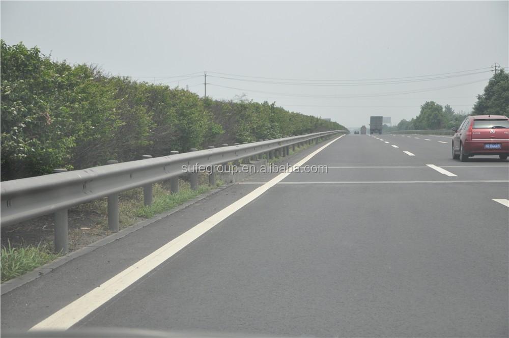 Supply hot dip galvanized highway guard rails in steel