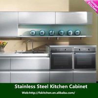 foshan factory supplies of kitchen cabinet with kitchen stainless steel cabinet shelves
