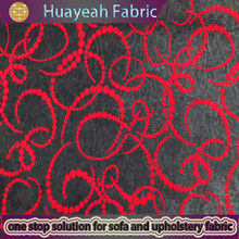 hot selling chinese red flock on suede chinese fabric