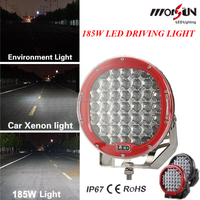 Big discount! 9'' 185w led driving light round 4x4 , auto parts 185w led driving light, spot 12v 24v 9inch 185w led work light