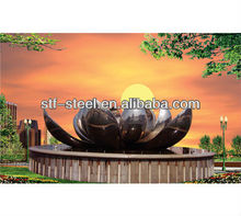 large outdoor modern art Stainless steel metal sculpture for square and garden OEM/ODM