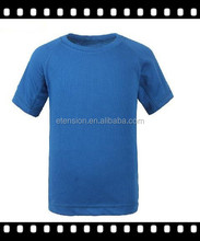 2015 most popular pure color blank quick dry children t shirt