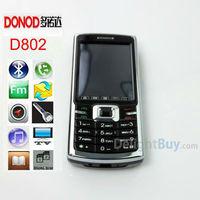 Unlocked Original Cheap Mobile Phone 2.4 inch touch screen DONOD D802 Bluetooth MP3 Video FM Radio, JAVA GAME phone (Black)