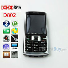 Unlocked Original Cheap Mobile Phone 2.4 inch touch screen DONOD D802 Bluetooth MP3 Video FM Radio, JAVA GAME phone (Black)