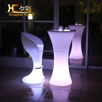 Multicolor LED plastic high top cocktail tables for party,event,nightclub,bar