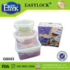 2014 Clear stackable lunch box set
