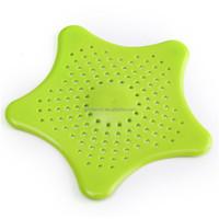 2015 New Arrival Practical Starfish Shower Drain Hair Catcher Bathroom Bath Stopper Sink Strainer Filter Hair Catcher Cover