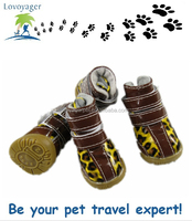 China wholesale PU leather pet boots dog shoes pet products