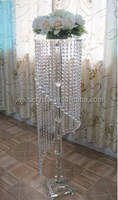 fashion home goods candle stand hanging crystals