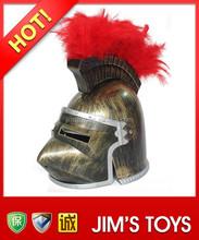 Roman Knight Helmet with Red Plume Unique Full Face Helmet