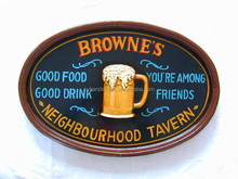 3D high quality antique wooden sign board for AD/ 3d Sign Board For Bar