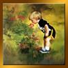 Cute boy handmade painting oil on canvas