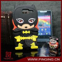 Cute 3D cartoon animal like a Batman silicon case for Motorola RAZR D1