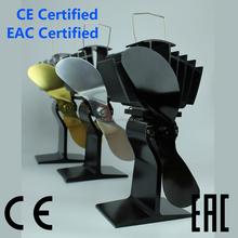 Ecofan eco ventilador calor impulsado estufa de madera fan EF-812 negro 2015