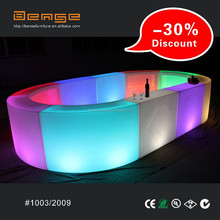 2015 Hot sales event nightclub LED Round snake Bar Counter