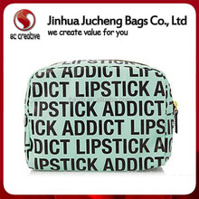 Promotional canvas cosmetic bag artist printing makeup brush bag