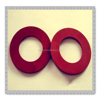 red natural rubber gasket flat ring